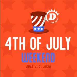 The promotional poster for The Dunes Resort 4th of July weekend.