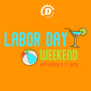 The promotional flyer for the Dunes Labor Day Weekend event.