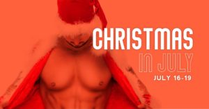 Christmas in July at the Dunes promotional flyer