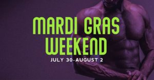 Mardi Gras Weekend at the Dunes promotional flyer