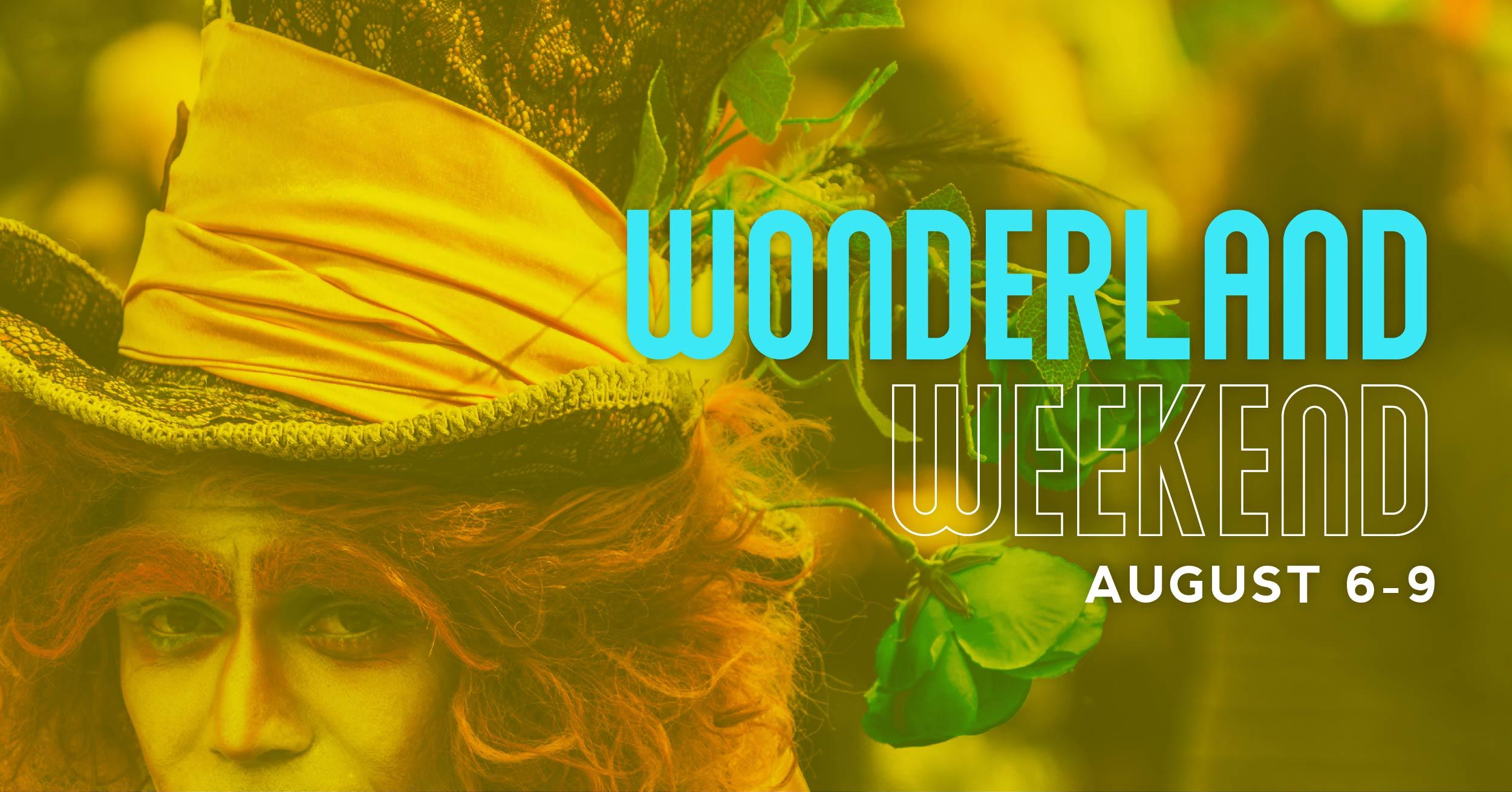 Wonderland Weekend at the Dunes promotional flyer