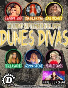 Flyer for Dunes Divas September 5