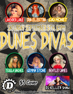 Dunes Divas poster for Sept 5 2020