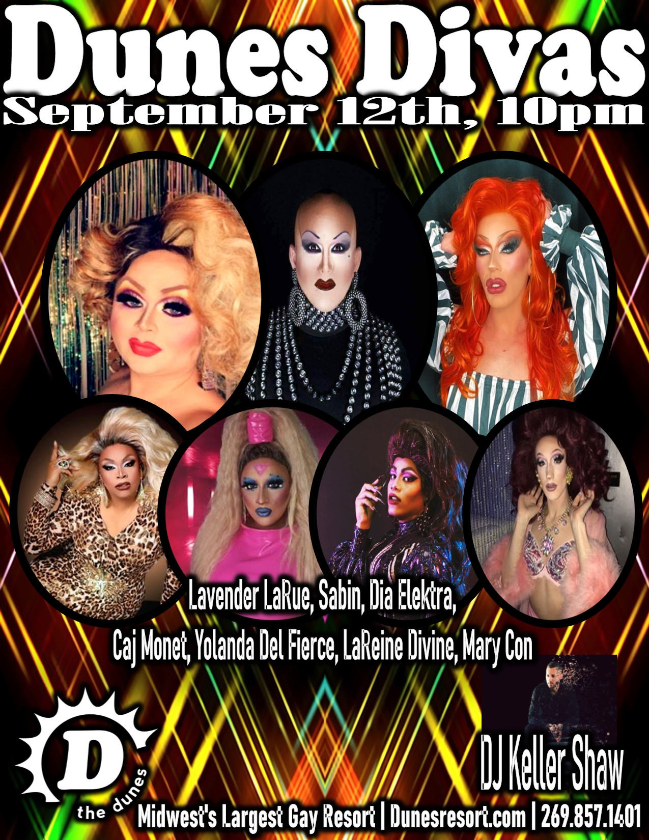 Dunes Divas poster for September 12, 2020 event.