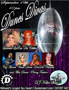 Dunes Divas promo flyer for the event September 19, 2020.