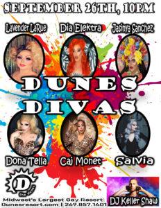 Dunes Divas event flyer for Sept 26, 2020.